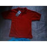 Chemise Rojo Para Preescolar Talla 8