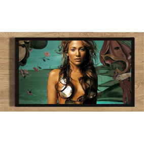 Quadro Poster Jlo Jennifer Lopez Com Moldura 35x25