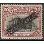 Costa Rica 1905 Sc #58b Teatro Sobre Carga 1c Con Matasello.