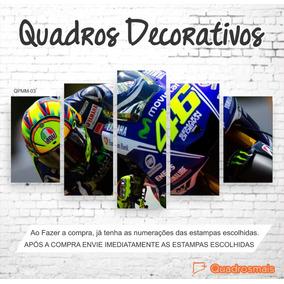 Quadro Decorativo Moto Gp Valentino Rossi 46 1,14x65