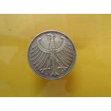Moneda 5 Marcos 1960 Plata Alemania Envio Gratis!!!
