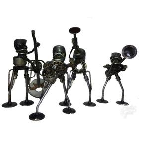 Figuras Decorativas Banda Ranas Instrumentistas Envío Gratis