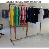 Arara Inox Móvel Desmontável Luxo Para Lojas Closet 1,5 M