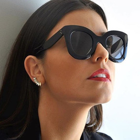 Óculos Feminino Retro Quadrado Butteryfly Azul Envio Imediat