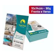 5000 Panfletos 90g Folder Flyer 10x14cm 4x4 F/v Arte Grátis