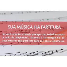 Produção De Partituras Para Registro De Músicas - Promoção