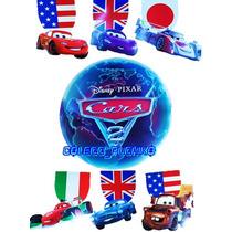 Colgante Original De Cine Cars 2 Mcqueen Disney Lona Matter