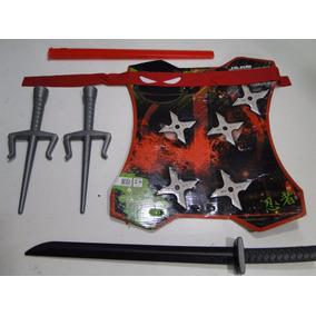 Kit Fantasia Tartaruga Ninja Mascara Kitana Samurai Sabre