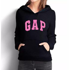 Moletom Gap Rosa Feminino Casaco Canguru Blusa Moleton