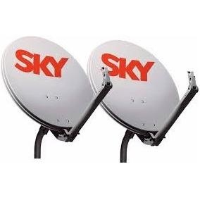 Kit 2 Antena Ku 60cm Sem Lnb