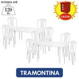 Conjunto 2 Mesas 8 Cadeiras Plásticas Festas Bar Com Brinde
