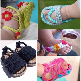 Sandalias Escarpines Zapatos Tejidos - Bebé Y Recién Nacidos