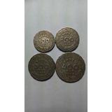 4 Moedas Antigas De Reis 100,200,300 E 400 Reis Do Ano 1938