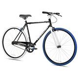 Takara Sugiyama Flat Bar Fixie Bike, Negro / Azul, Large...