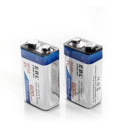 2 Pilas Recargables 9v 600mah Alta Capacidad Baterias Litio