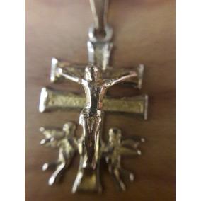 Cruz De Caravaca 10k Oro Dije Comunion Confirmacion Cristo