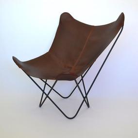 Silla Bkf, Silla Mariposa Diseño Moderno Con Funda De Piel
