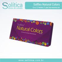 Lente De Contato Descartável Colorida Solflex Natural Colors