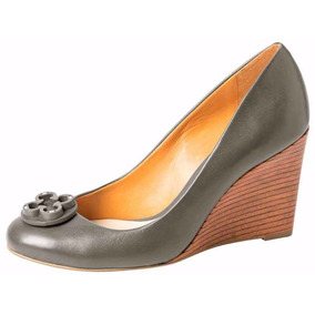 Zapato De Mujer De Cuero Con Taco De Madera Diseño - 4010189