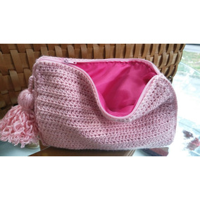 Bolsa Cosmetiquera Tejida A Crochet