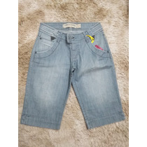 Bermuda Feminino Jeans Lado Avesso 38 C