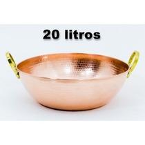 Tacho De Cobre Grande 20 Litros (puro)