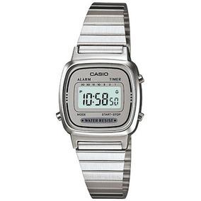 fa04e2ac9f91 ... Reloj Digital Retro Plateado Para Mujer · Casio   7-la670wa Banda De  Metal Temporizador De Cuenta.