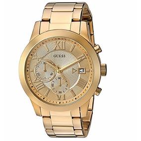 Reloj Guess U0668g4 Hombre Dorado Acero Inoxidable