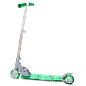 Patinete Infantil 2 Rodas Não Eletrico Menina Menino Verde