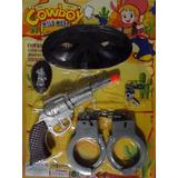 Revolver Algema Distintivo Mascara Xerife Velho Oeste