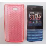 Capa Protetora Premium Cor Rosa Nokia X3-02 + Frete Grátis
