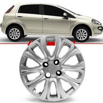 Calota Fiat Punto 2015 15 Universal Roda Ferro Aro 15 Prata