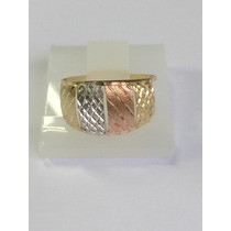 Ngold Anel Tricolor 3 Cores Oferta Ouro 18 K 750.