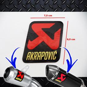 Adesivo Plaquinha Alumínio Akrapovic Temperatura Original