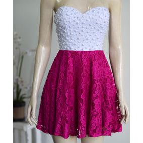 Vestido Em Renda Com Pérolas A013