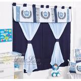 Cortina Principe Azul Marinho 2m Menino - Quarto Bebê 1pç P*