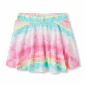 Pollera Skort The Childrens Place + 2 Remeras Manga Larga T5