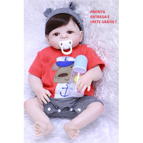 Boneco Bebe Reborn Menino 100% Silicone Pronta Entrega