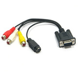 Cabo Vga P/ Svideo Com 3 Rca Placa Ligue O Pc Tv