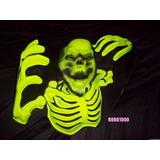 Halloween Decoracion Mural Esqueleto Fluorescente Plastico
