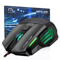 Mouse Gamer Warrior Fire 7 Botões 3200dpi + Mousepad