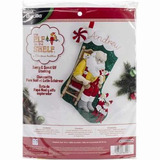 Bucilla Original. Bota Navideña Santa And Scout Elf. Navidad