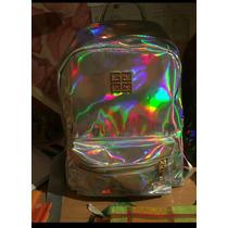 Mochila Holográfica Prata Ou Dourada Incríveis E Modernas