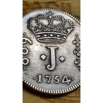 600 Reis 1754 - Moeda Feita De Cobre Banhada A Prata