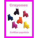 Souvenir Crayones Patin Soy Luna Nenas Patines Cumple X48