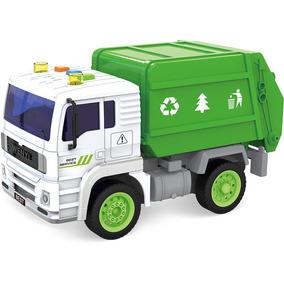 Shinytoys 520a Mini Caminhão De Lixo A Fricção Com Som E Luz