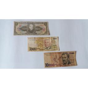03 Cédulas De Dinheiro - Frete Grátis - Notas Antigas Cod12