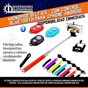 Monopod Selfies, Con Control, Bluetooth Para Iphone Android