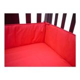 Protector Cuna De Bebé American Baby Company Rojo