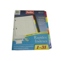 Separador Rapidex Mensual Del 1 Al 31